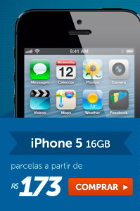 iPhone 5 16 GB parcelas a partir de R$ 173